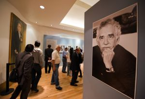 """People visit the exhibition called """"Gabr"""