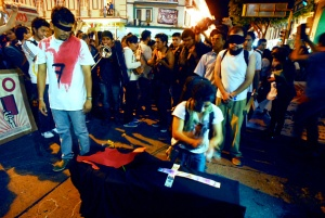 Veracruz students took to the streets to demand the return