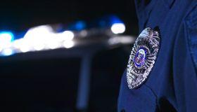 Badge of police officer