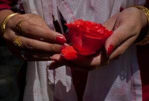 Faithful Gather At Temple During Kheer Bhawani Festival In Kashmir