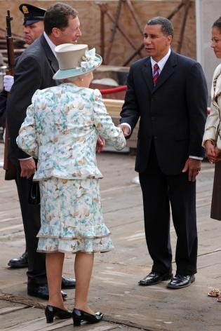 Queen Elizabeth II Visits The World Trade Center
