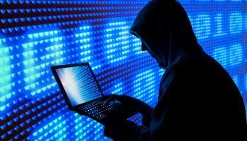Cybercrime hacker silhouette