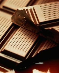 Chocolate bar, close-up