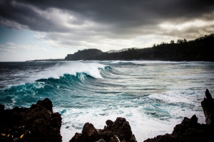 Sea storm in Reunion island