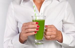 Green detox juice smoothie drink