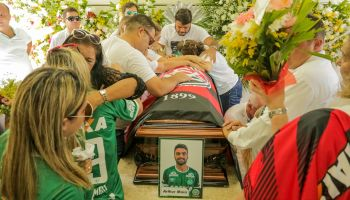 Fans Pay Tribute To Brazilian Football Team Chapecoense Following Fatal Plane Crash