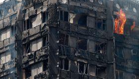 24-Storey Grenfell Tower Block On Fire In West London