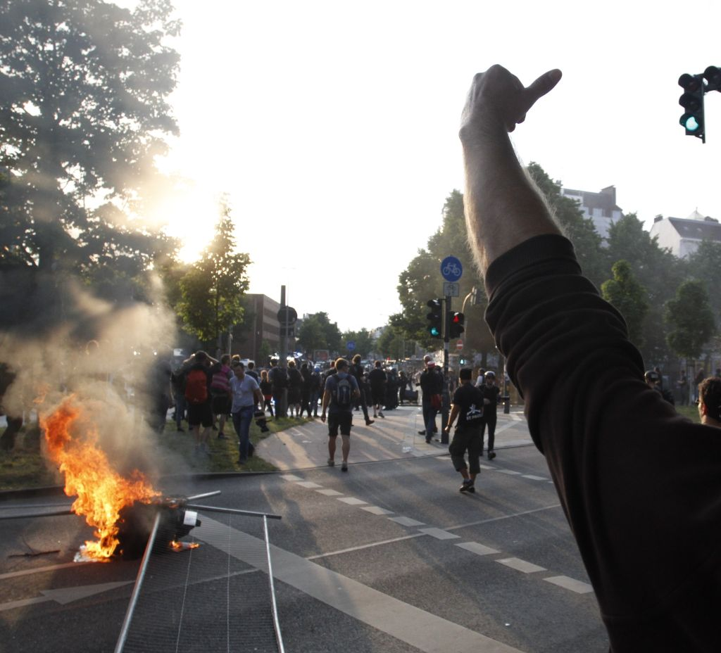 Protest in Hamburg during the G20 Summit