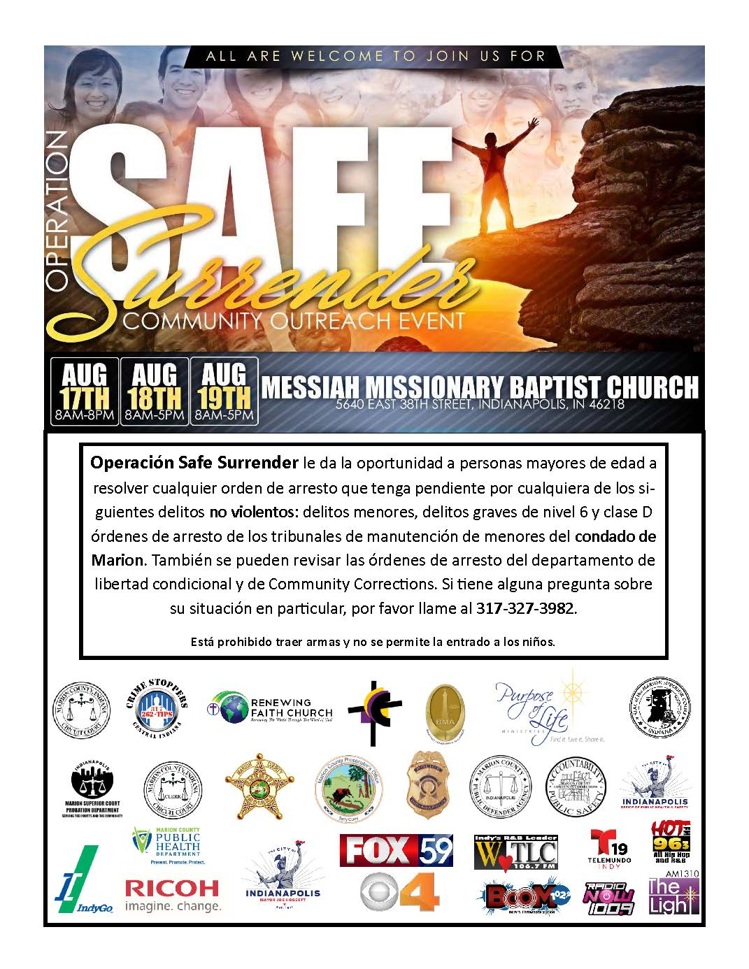 Safe Surrender Flyer