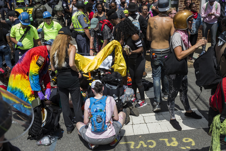 Car Runs Over Crowd of Anti-White Supremacy Protestors in Charlottesville