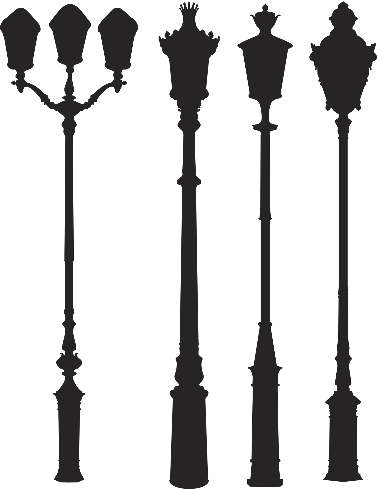 Different lampposts