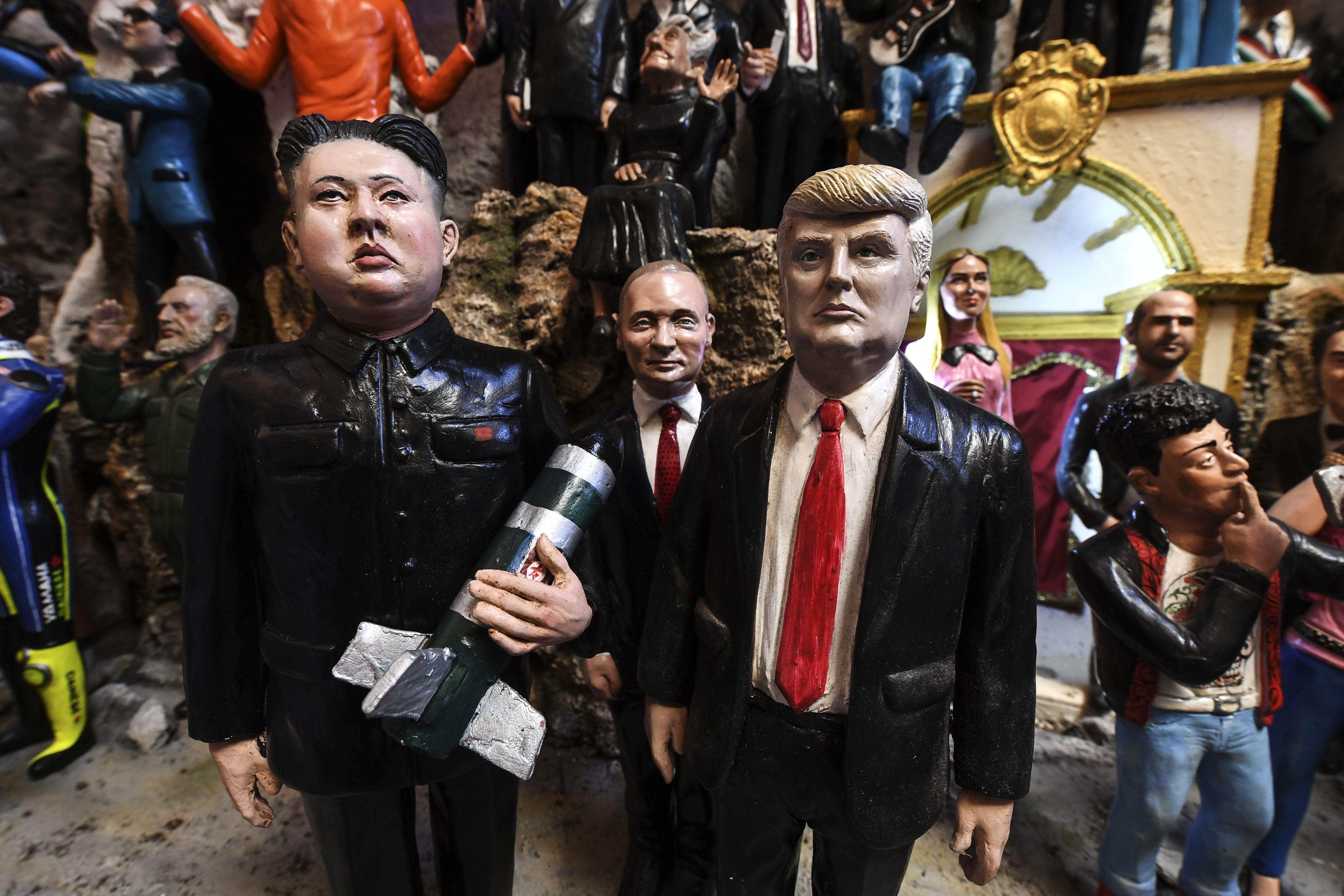 The Korean dictator Kim Jong-un, US President Donald Trump...