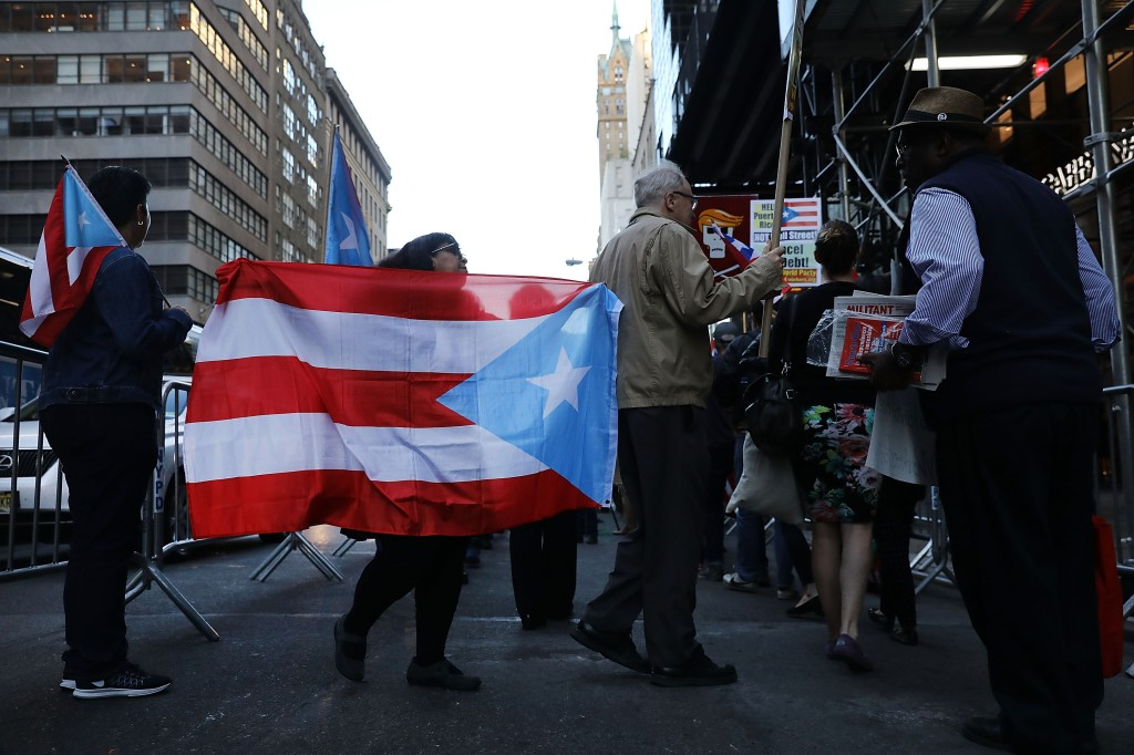Protestors Rally At Trump Tower For Aid To Puerto Rico