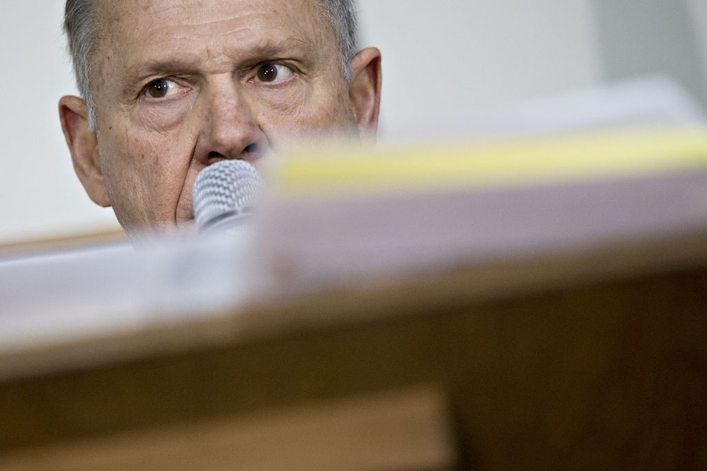 Alabama Republican Candidate For U.S. Senate Roy Moore Holds Campaign Rally
