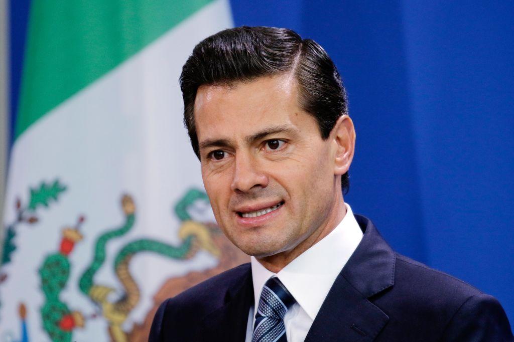 Berlin, Deutschland, Pressekonferenz mit Bundeskanzlerin Angela Merkel und Enrique Pena Nieto, Staatspraesident von Mexiko