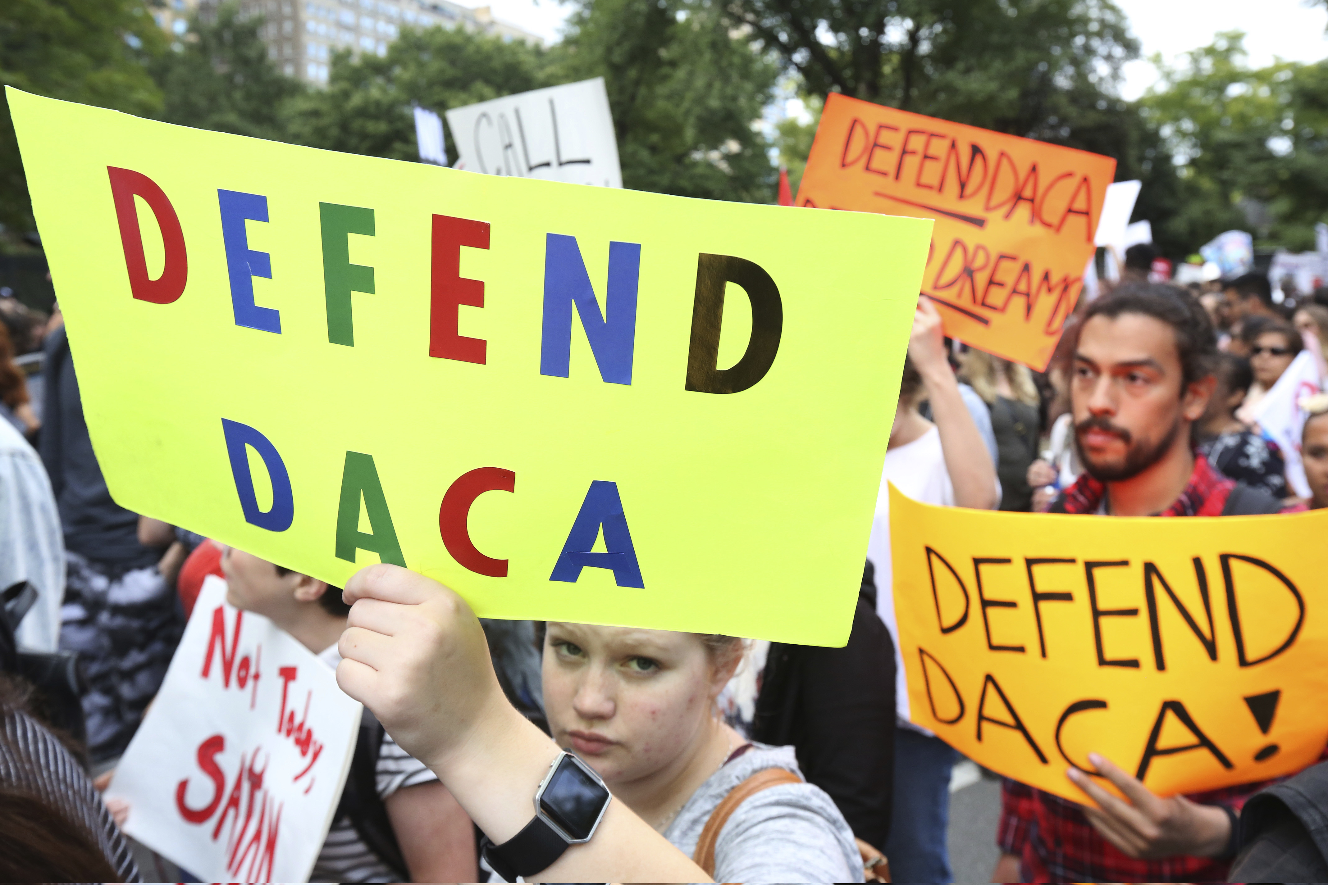 Immigration Activists Rally Against President Trump's Decision To End DACA Program