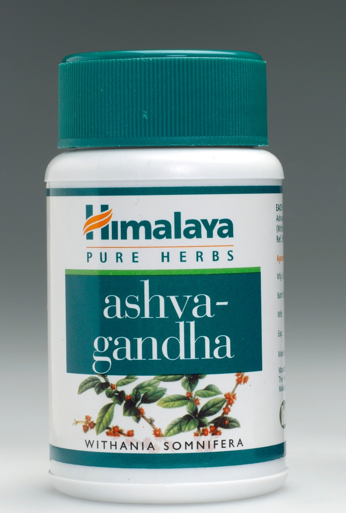 Container of Ashvagandha tablets, 2005.