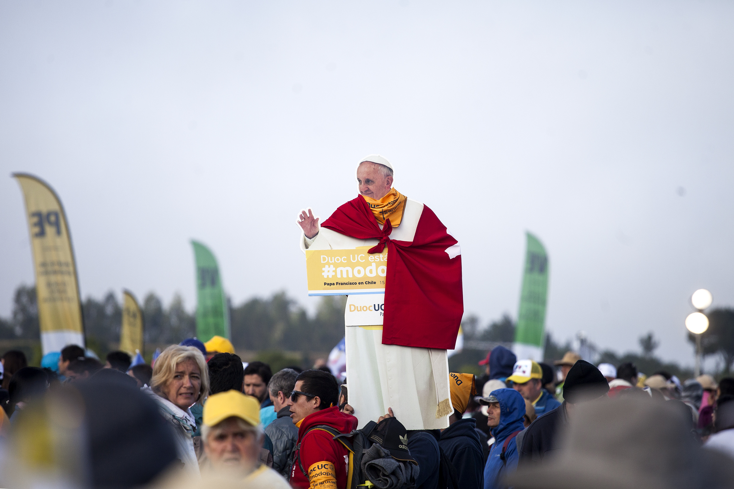 Pope Francis gives a mass in Temuco