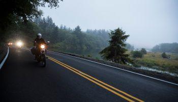Motorcycle club on Highway 101