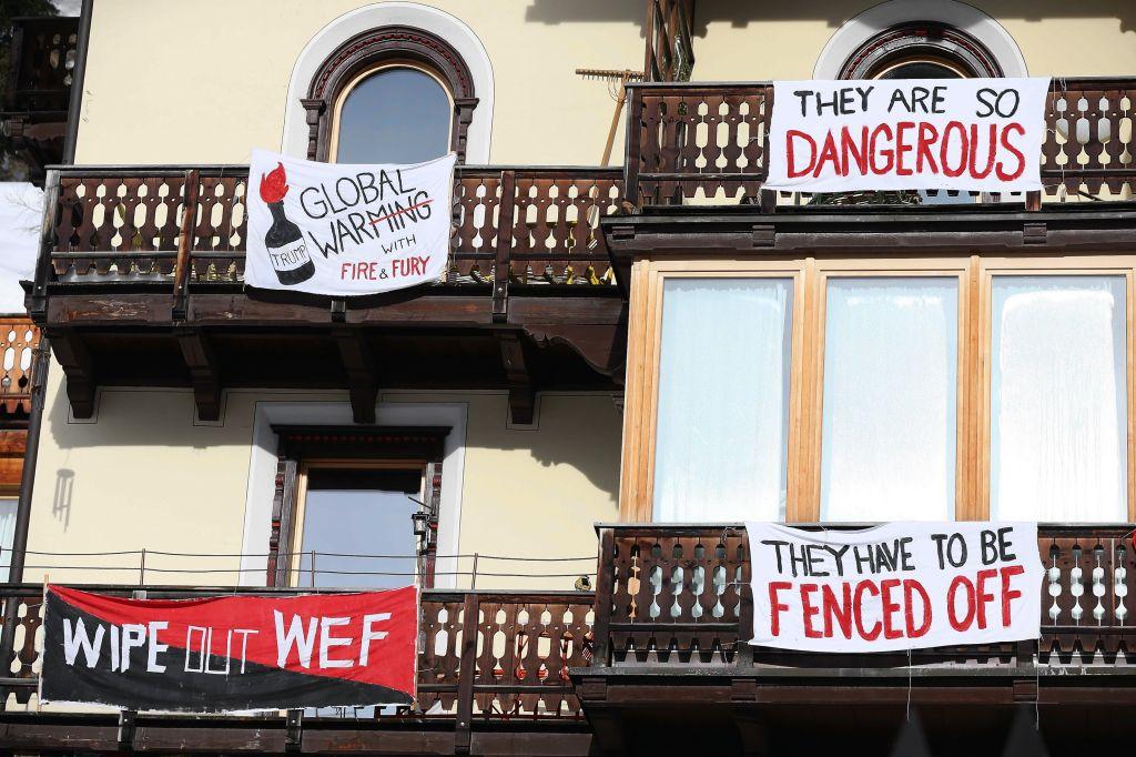 Protest against Donald J. Trump in Switzerland