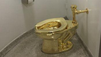 US-ARTS-MUSEUM-GOLD-TOILET