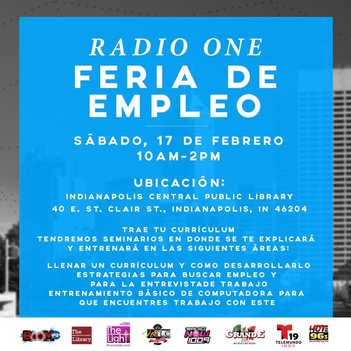 2018 Radio One Career Fair (Indy) Flyer