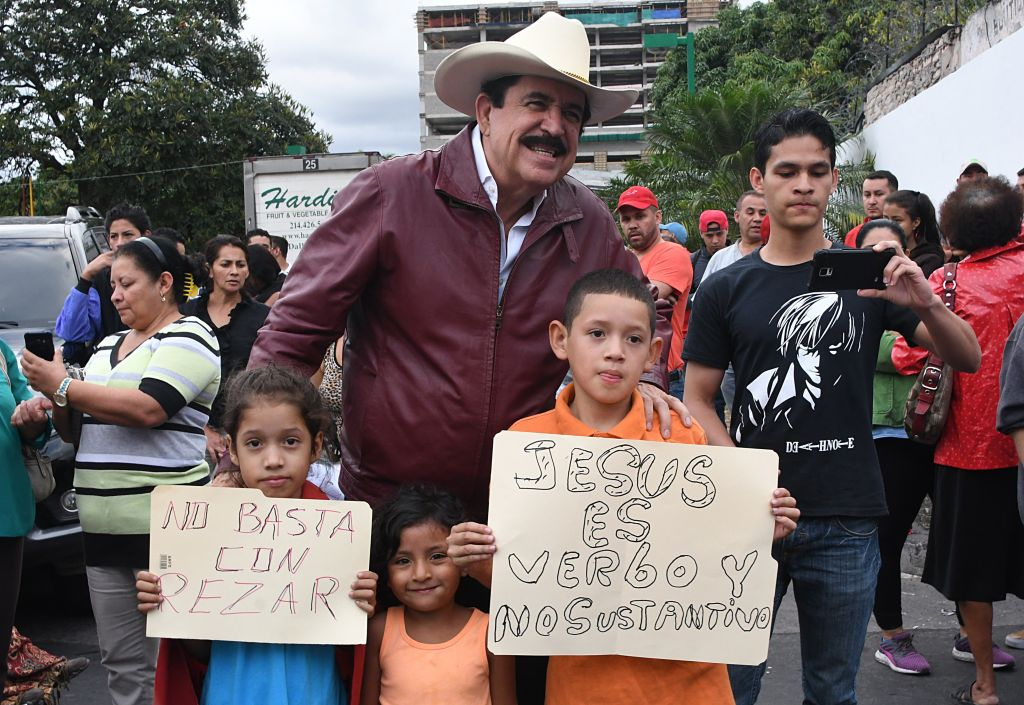 HONDURAS-CRISIS-PROTEST-CEREMONY-VICTIMS