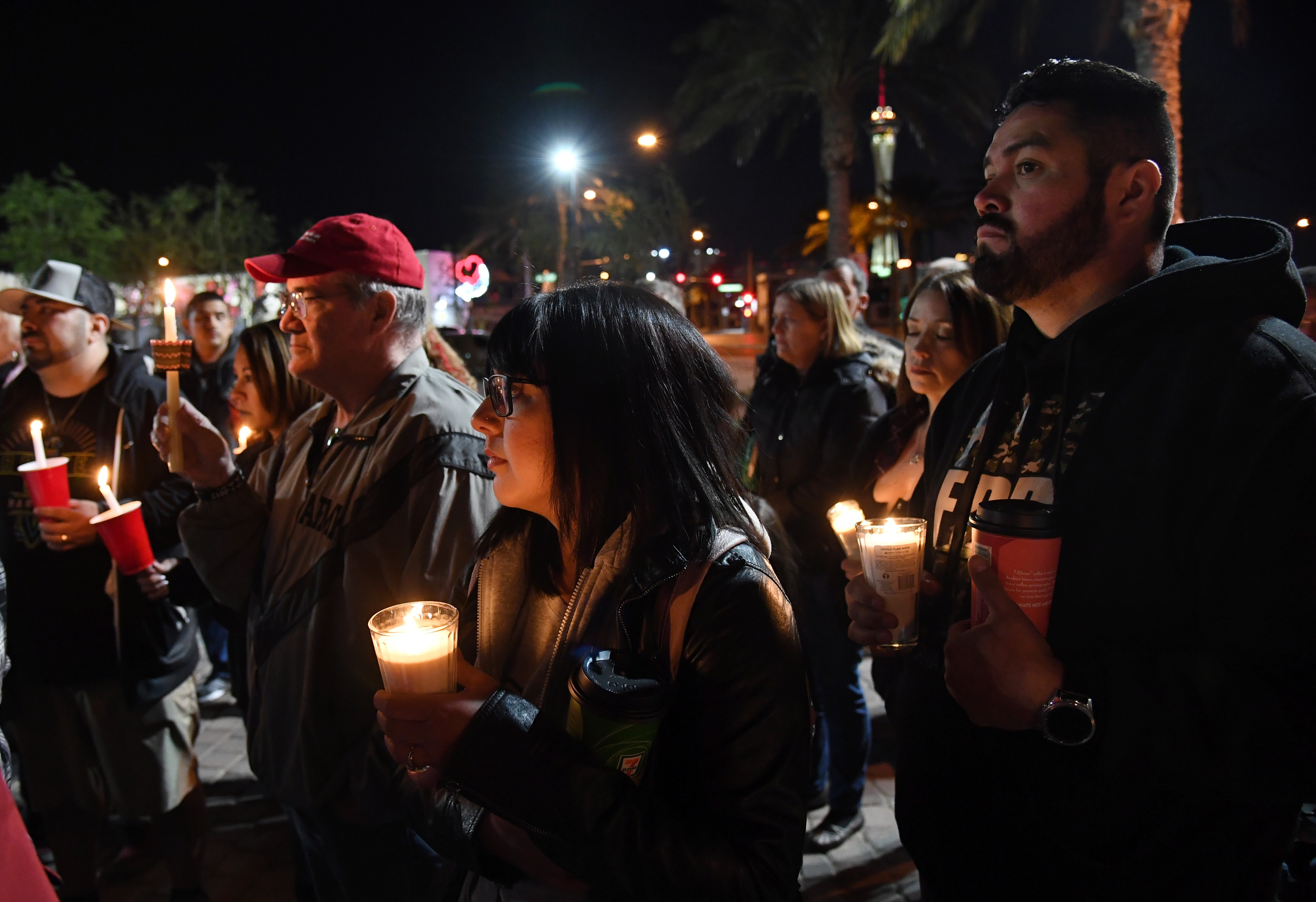 Las Vegas Residents Hold Vigil For Florida High School Shooting Victims
