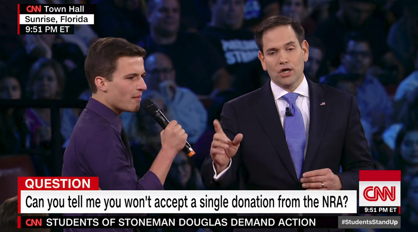 Marco Rubio during an appearance on CNN.