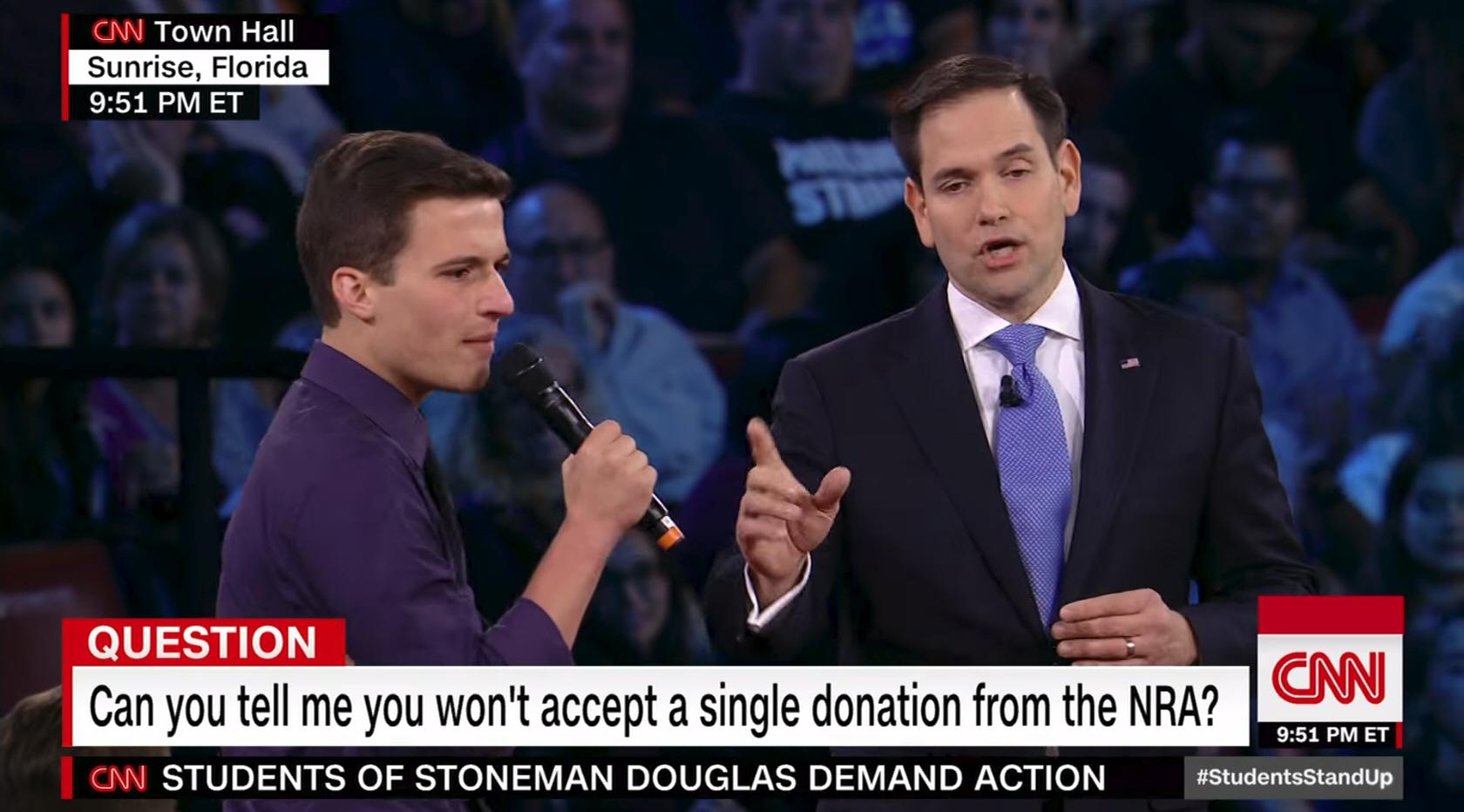 Marco Rubio during an appearance on CNN.