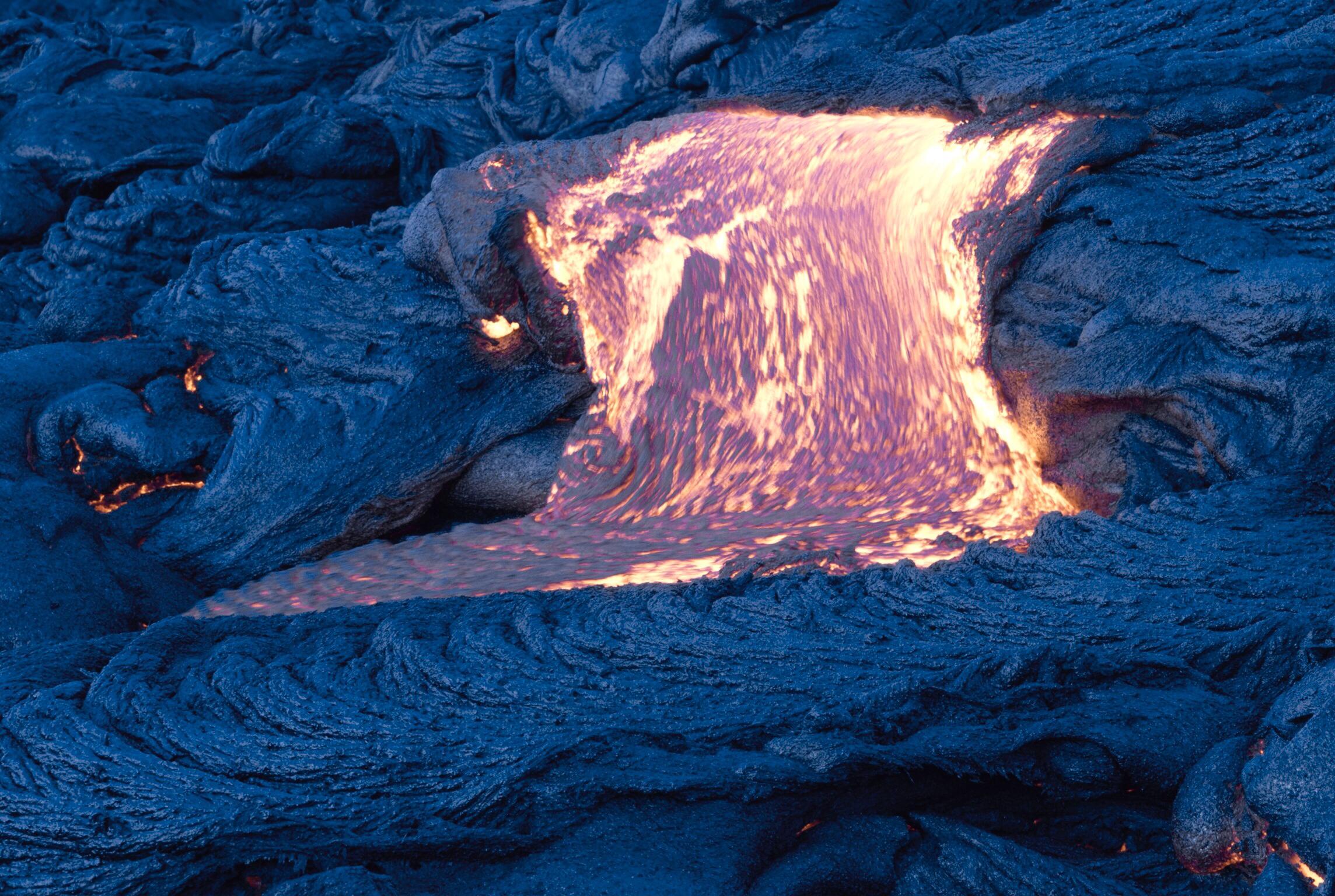 Fresh molten lava, Hawaii