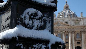 Snowfall In Rome