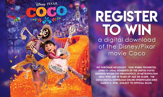 The Coco Digital Download online sweepstakes