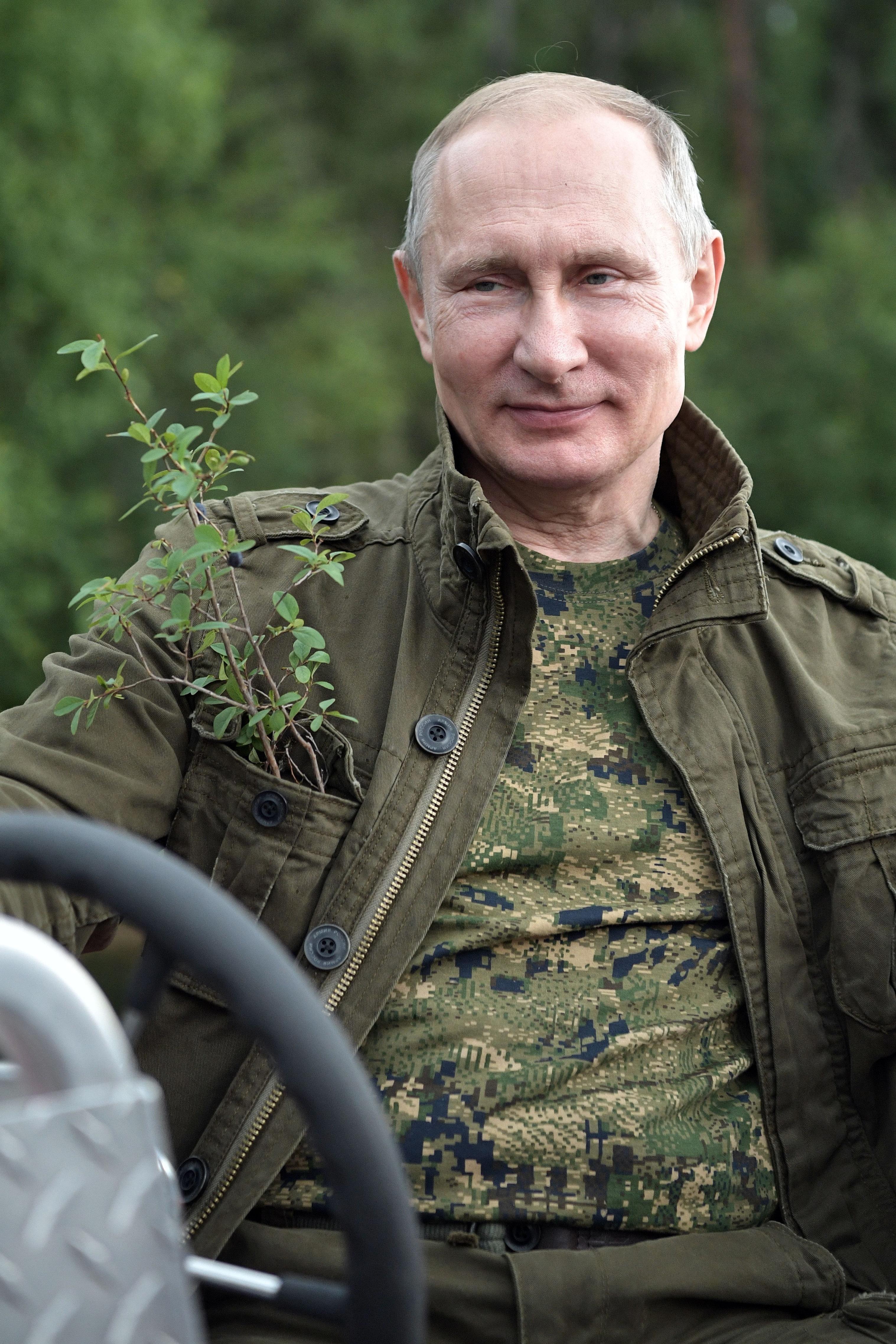 Vladimir Putin in the Republic of Tyva