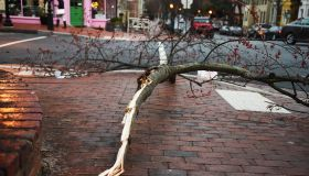 WASHINGTON, DC - MARCH 2: Pedestrians face additional obstacles
