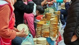 America. Mexico. Guanajuato. Dolores de Hidalgo village. the market