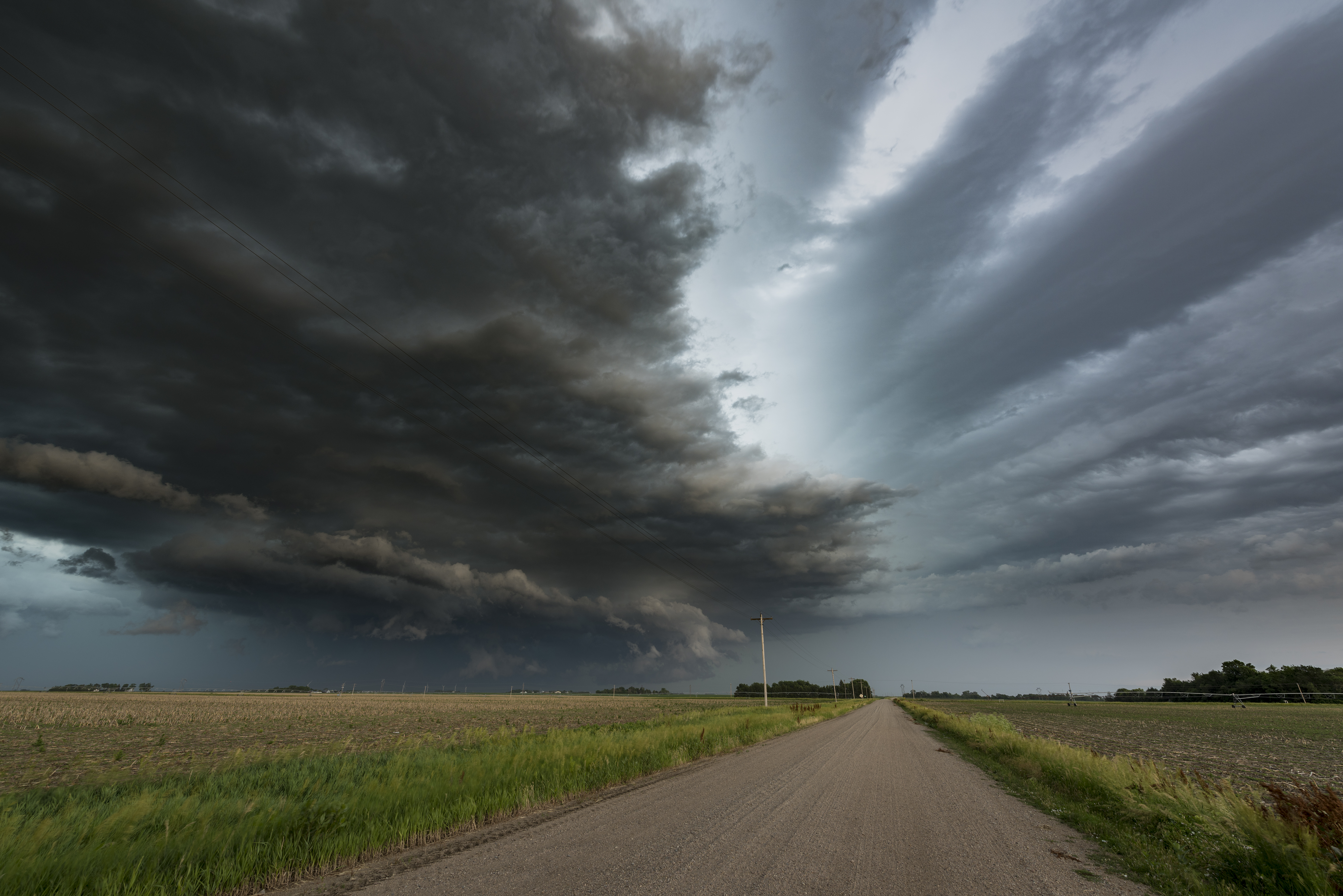 Rotating mesocyclone storm over the Great Plains of Nebraska. USA