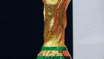 Enrique Pena Nieto President of Mexico Welcomes FIFA Trophy