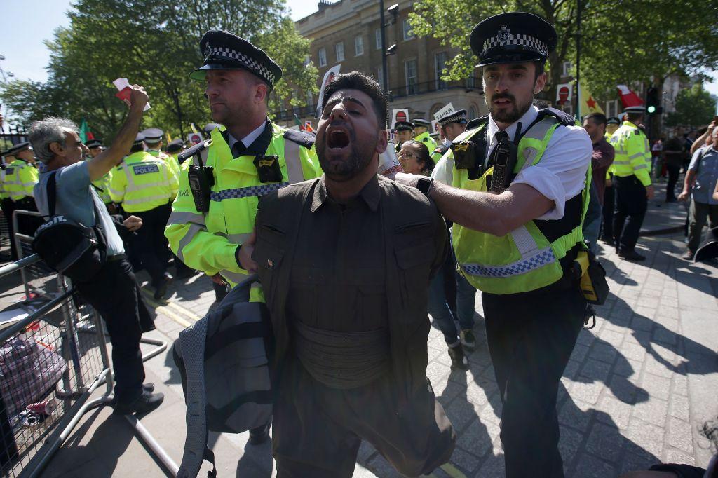 BRITAIN-TURKEY-DIPLOMACY-PROTEST