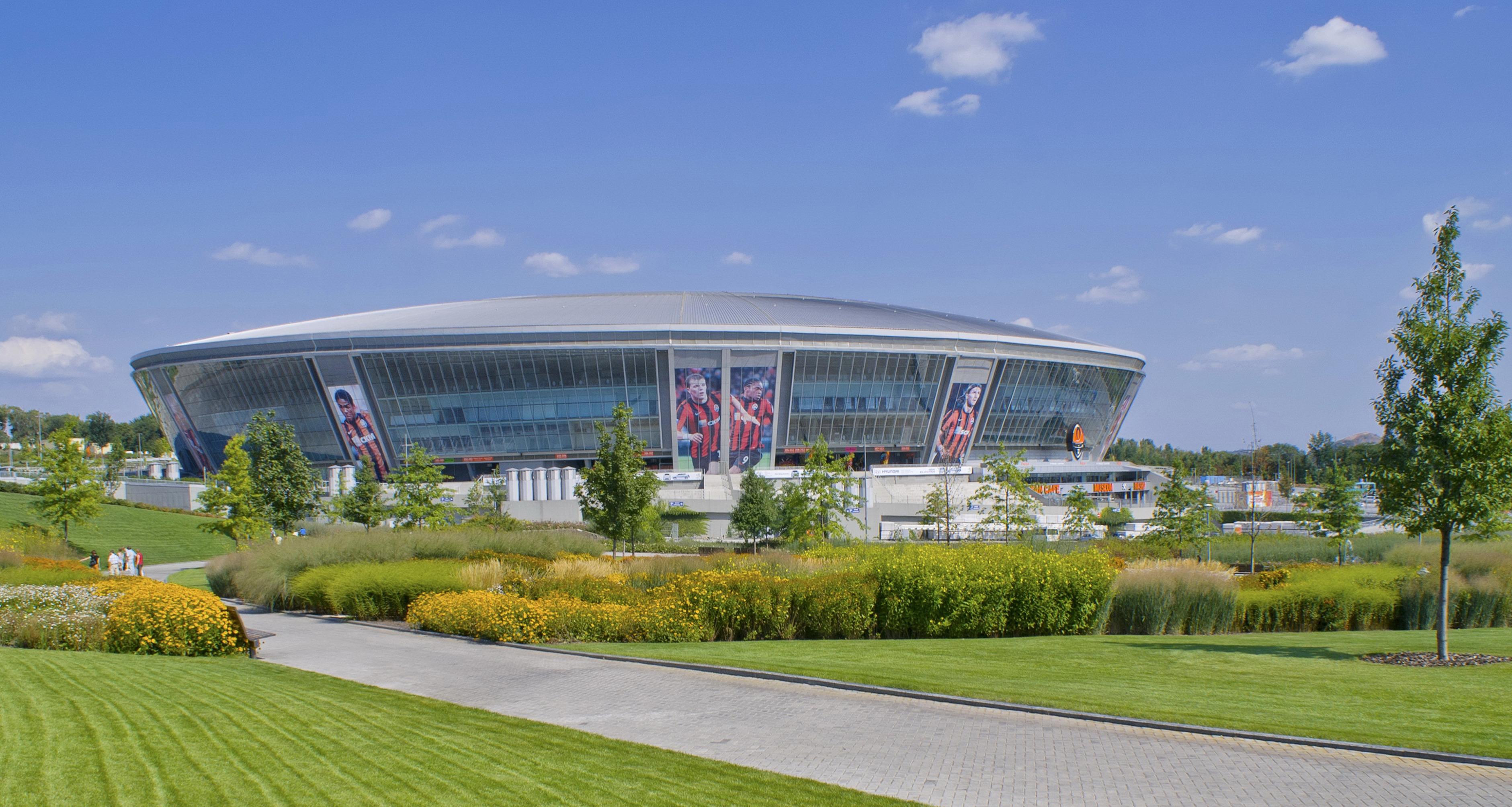 Ukraine, Donbass, Donezk, Fussballstadion Donbass Arena