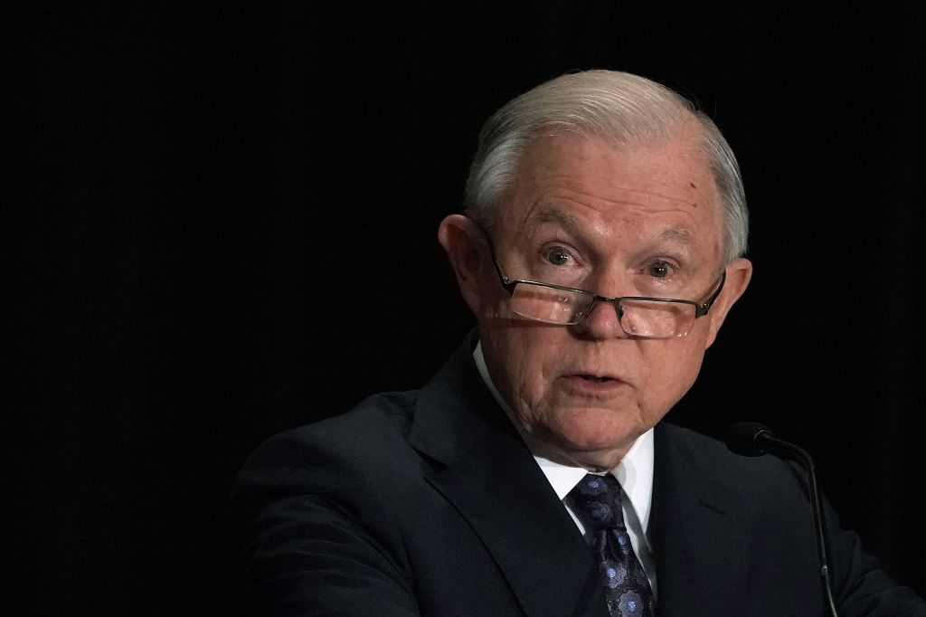 Jeff Sessions Delivers Remarks At Training Conference For Immigration Judges