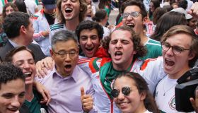 Mexico Fans Celebrate Victory of Korea Republic in Mexico City