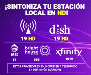 Telemundo Indy HD channel positions