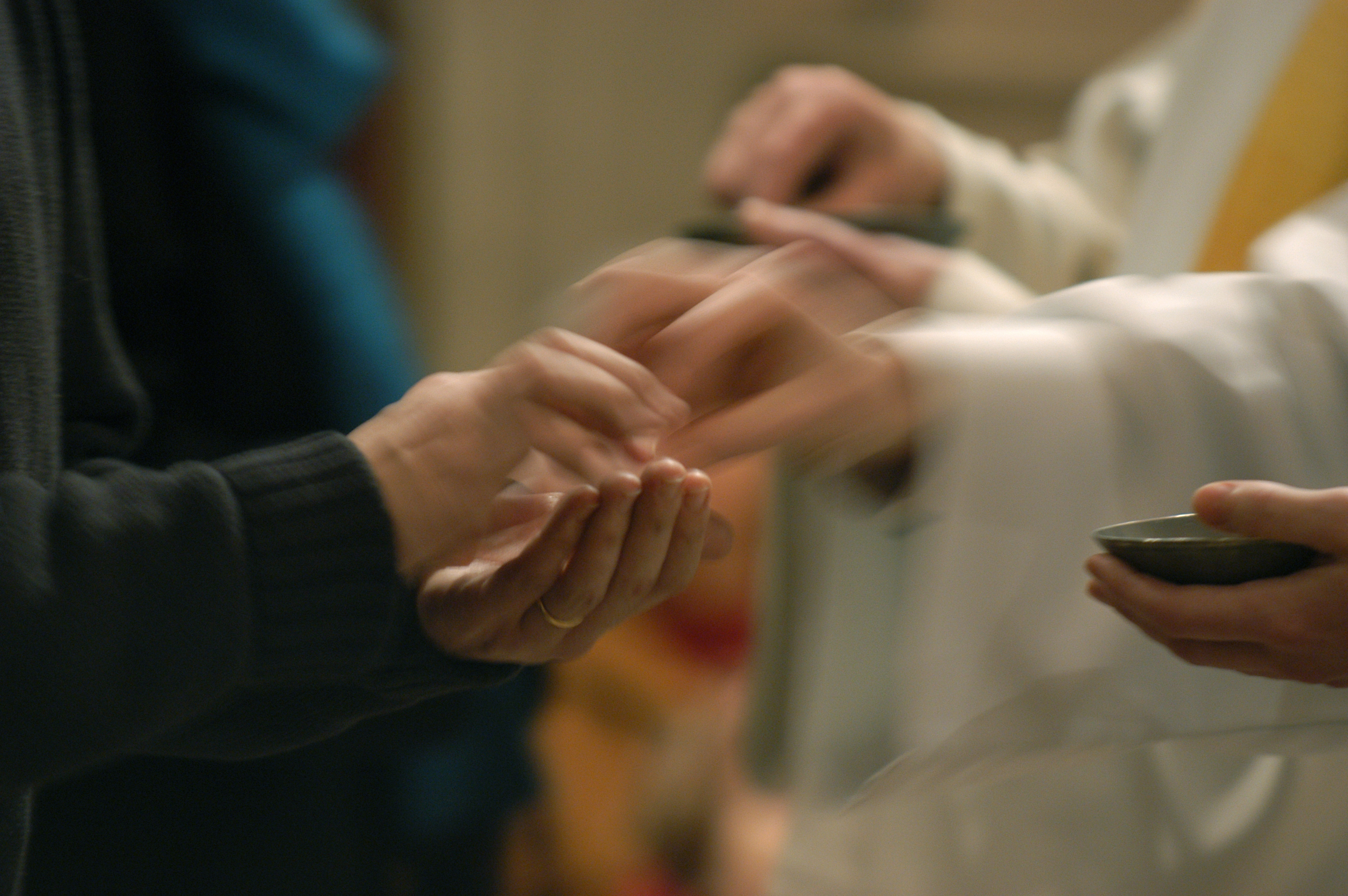 Worshippers Receiving Communion