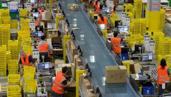 Amazon logistics centre in Leipzig