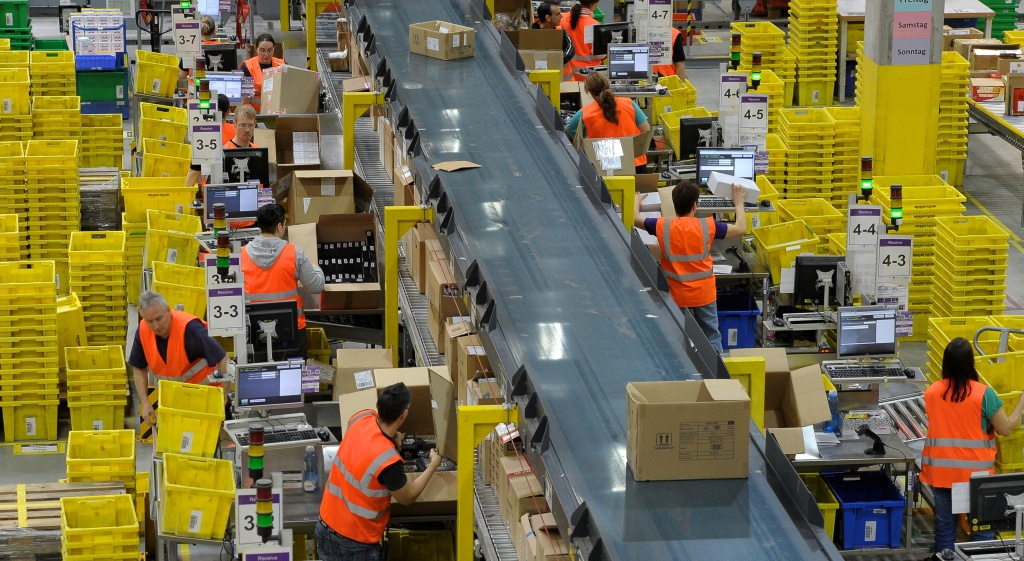 Amazon logistics centre in Leipzig