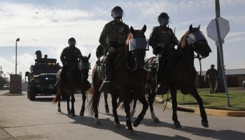 U.S. Customs And Border Protection Agents Train For Possible Immigrant Caravan