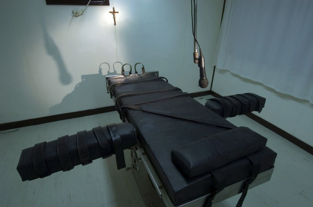 The lethal injection chamber at New Bilibid Prison...