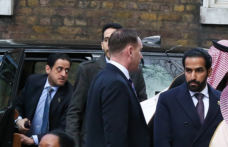 FILE PHOTOS: The moment Saudi Crown Princebodyguard Maher Abdulaziz Mutreb, arrives at 10 Downing Street