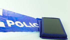 smart phone in Police Line - Crime Scene